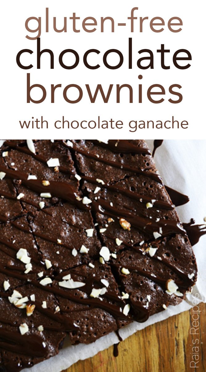 Gluten-Free Chocolate Brownies with Chocolate Ganache #glutenfree #brownies #chocolate #dessert #glutenfreebaking