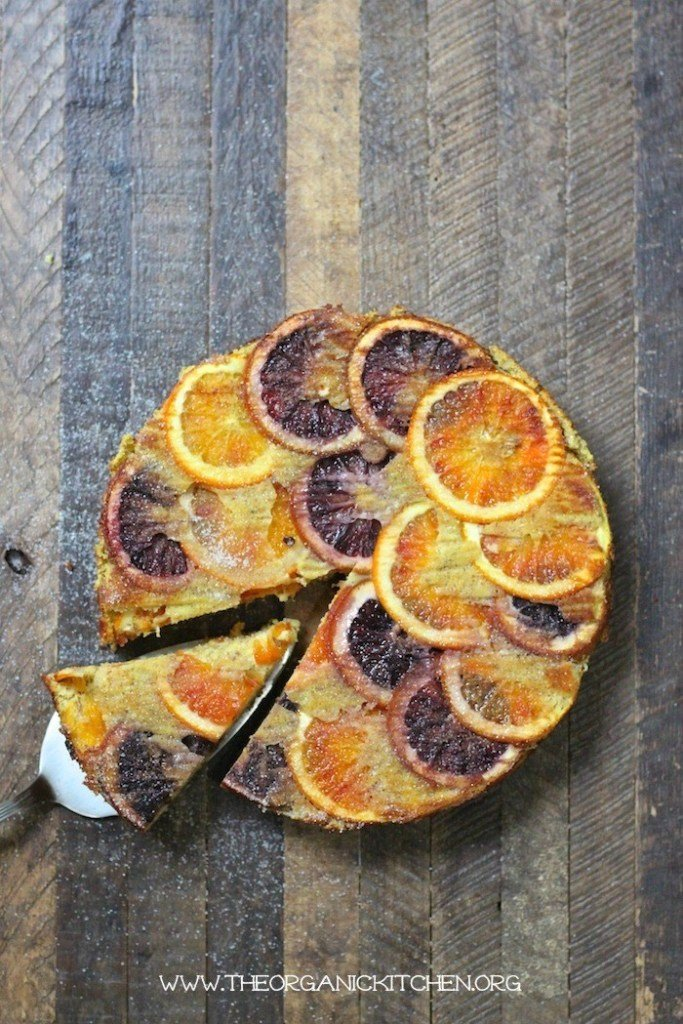 upside down orange almond cake