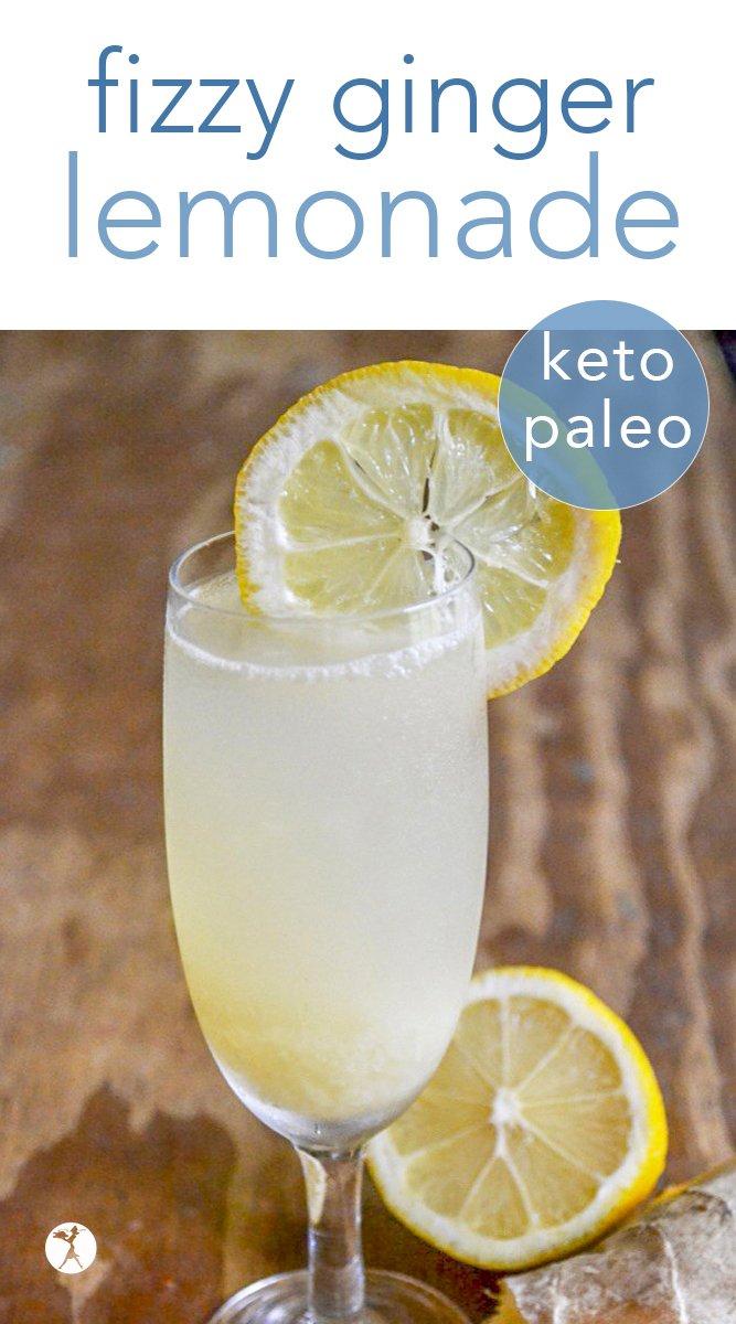 Fizzy Ginger Lemonade #drinks #ginger #lemon #lemonade #waterkefir #keto #realfood #paleo #glutenfree #refinedsugarfree