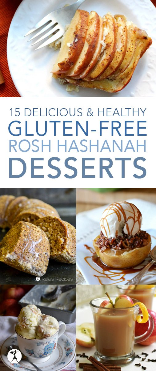 15 Delicious & Healthy Gluten-Free Rosh Hashanah Recipes #roshhashanah #glutenfree #desserts #apple #fig #pomegranate #newyear #jewishnewyear #recipes