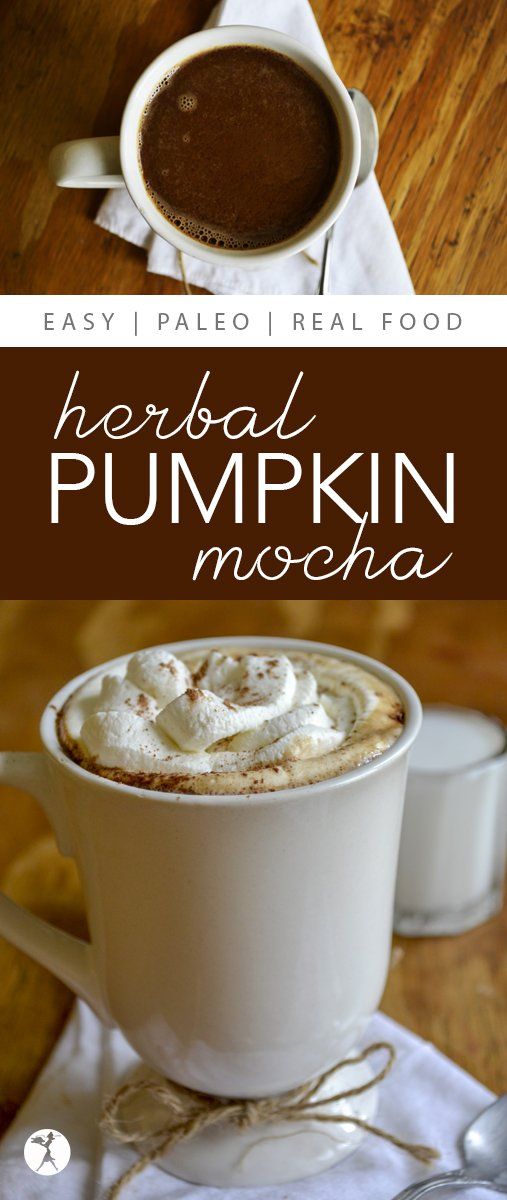 What better way to celebrate fall than with a delicious and easy to make Herbal Pumpkin Mocha? #paleo #glutenfree