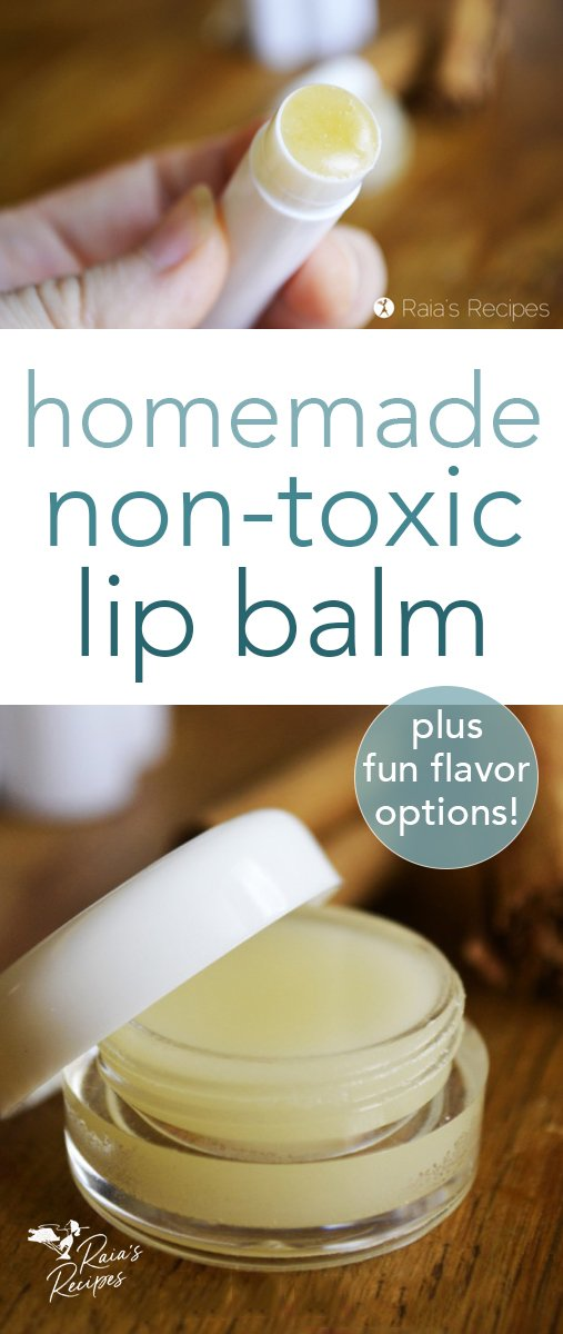 This DIY, non-toxic lip balm makes an easy, healthy alternative to store-bought lip balms. With only a few, safe ingredients, you'll be surprised at how easy it is to whip up. #homemade #diy #nontoxic #skincare #lipbalm #chapstick #howto #essentialoils #healing