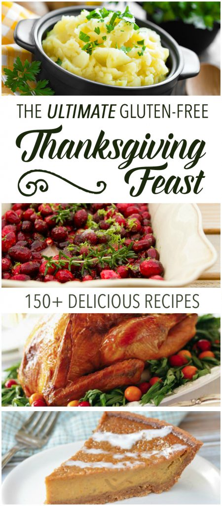 Need help planning the perfect gluten-free Thanksgiving meal? This round-up of delicious holiday dishes gives you over 150 recipes - from appetizers to dessert - everything you need to have the Ultimate Gluten-Free Thanksgiving Feast! | RaiasRecipes.com