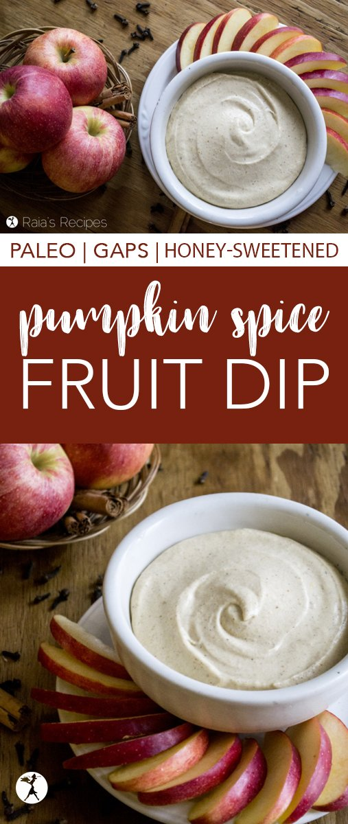 Whether you're looking for an appetizer, snack, or lunch, this dairy and refined-sugar free Pumpkin Spice Fruit Dip is a delicious treat!