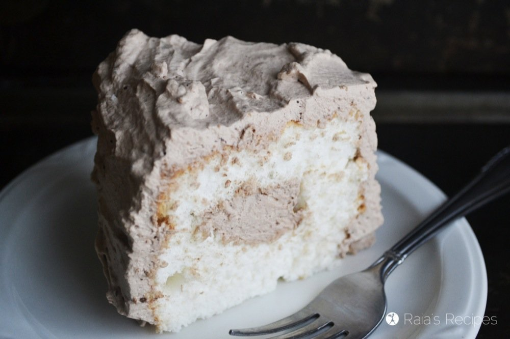 Chocolate Cream Angel Food Cake | RaiasRecipes.com