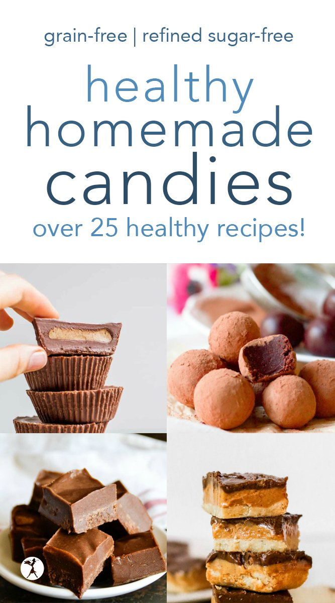 Need some healthy options for your sweet tooth? Instead of chowing down on store-bought candies during the holidays, give any one of these Healthy Homemade Candies a try. #healthy #dessert #candy #grainfree #paleo #glutenfree #refinedsugarfree #treats #vegan #keto