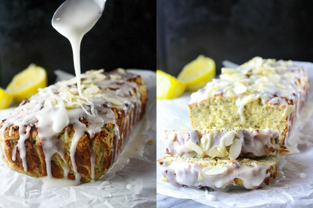 Almond Lemon Poppy Seed Loaf from A Saucy Kitchen