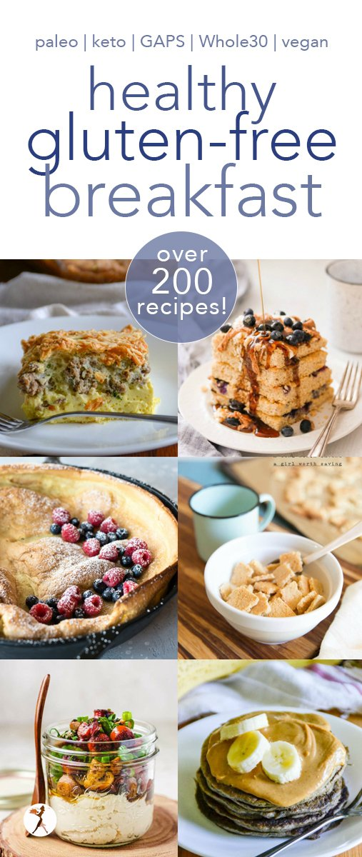 Attention breakfast-lovers! I've got all the healthy gluten-free breakfasts you'll ever need right here. Paleo, keto, GAPS, Whole30, and vegan! #breakfast #healthy #paleo #keto #whole30 #glutenfree #gapsdiet #vegan