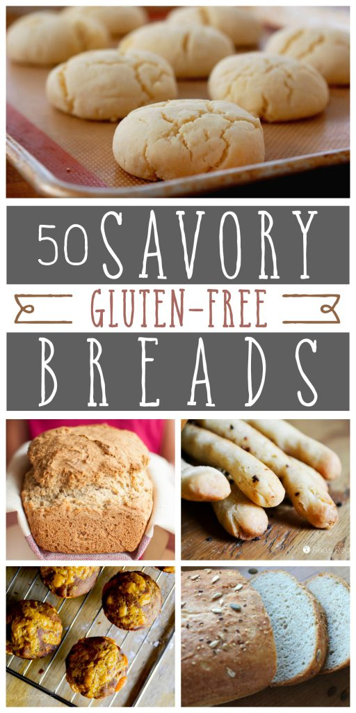 If you think being gluten-free means missing out on bread, think again! Here are 50 delicious savory gluten free breads you can make at home.  RaiasRecipes.com