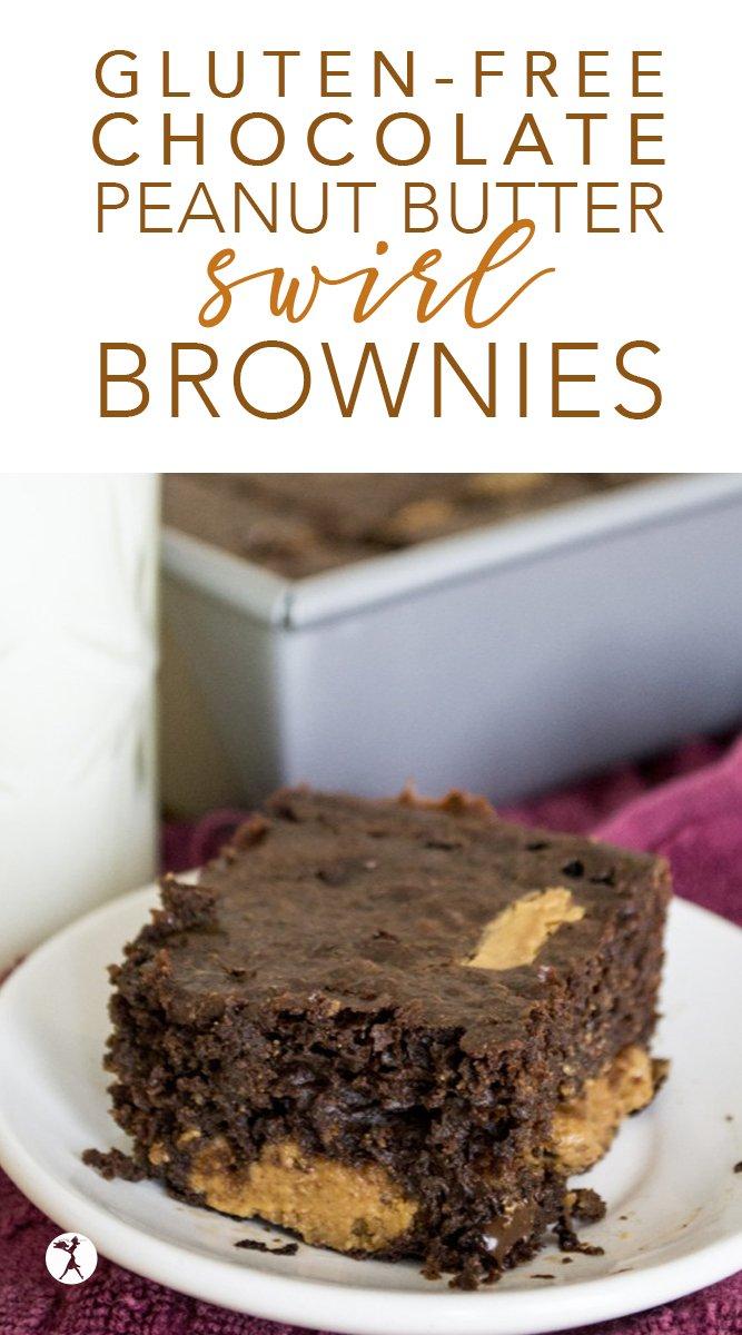Gluten-Free Chocolate Peanut Butter Swirl Brownies #brownies #glutenfree #chocolate #peanutbutter #dessert #glutenfreedessert #glutenfreebrownies #buckwheat #healthier