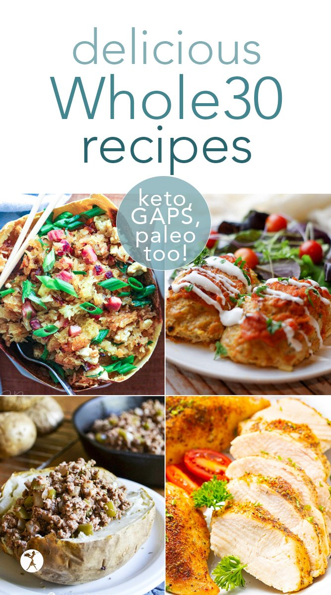 New to the Whole30 way of eating? Need help planning out your meals? Here are some delicious Whole30 recipes to get you going! #whole30 #recipes #healthy #detox #glutenfree #grainfree #sugarfree #paleo #keto #lowcarb #gapsdiet