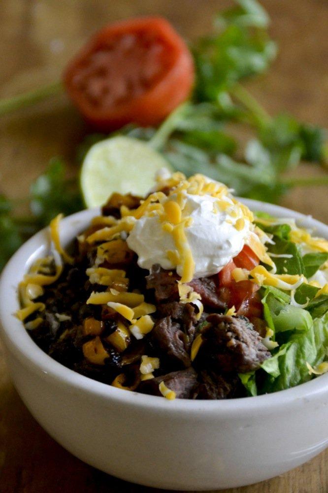 grain-free Chipotle style burrito bowl profile