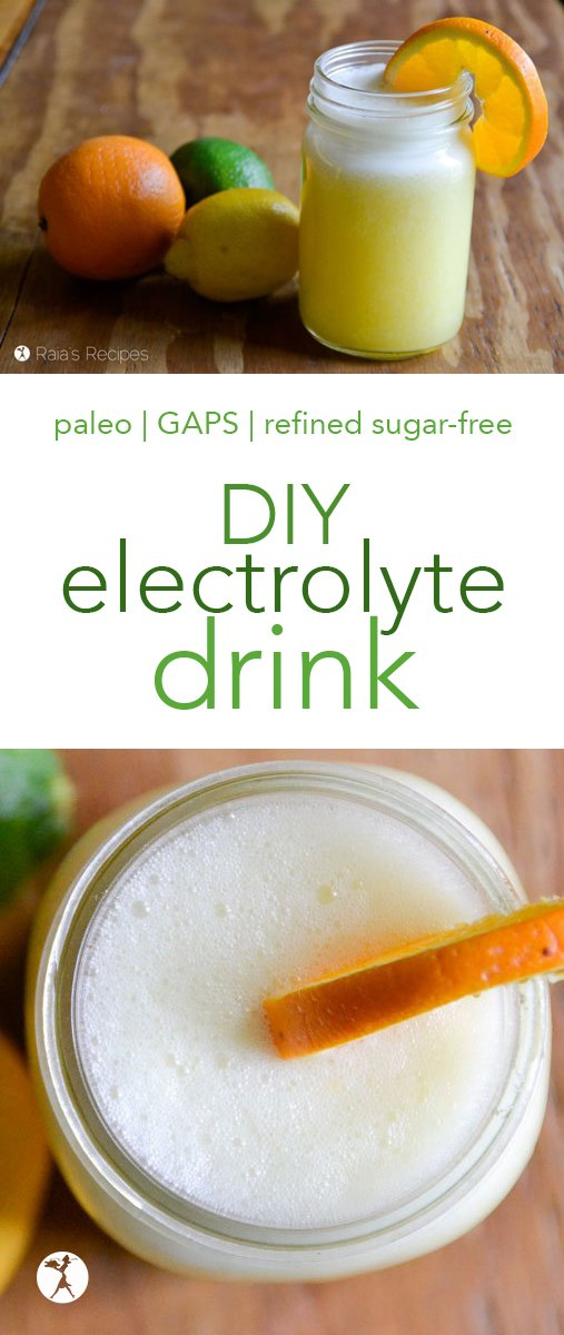 Summer heat got you down? Need to replenish after a workout? This easy and delicious DIY electrolyte drink is just what you need. #electrolytes #drinks #healthy #nourishing #citrus #magnesium #minerals #vitaminC