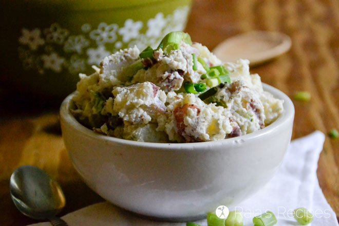 Creamy Potato Salad with Bacon and Chives