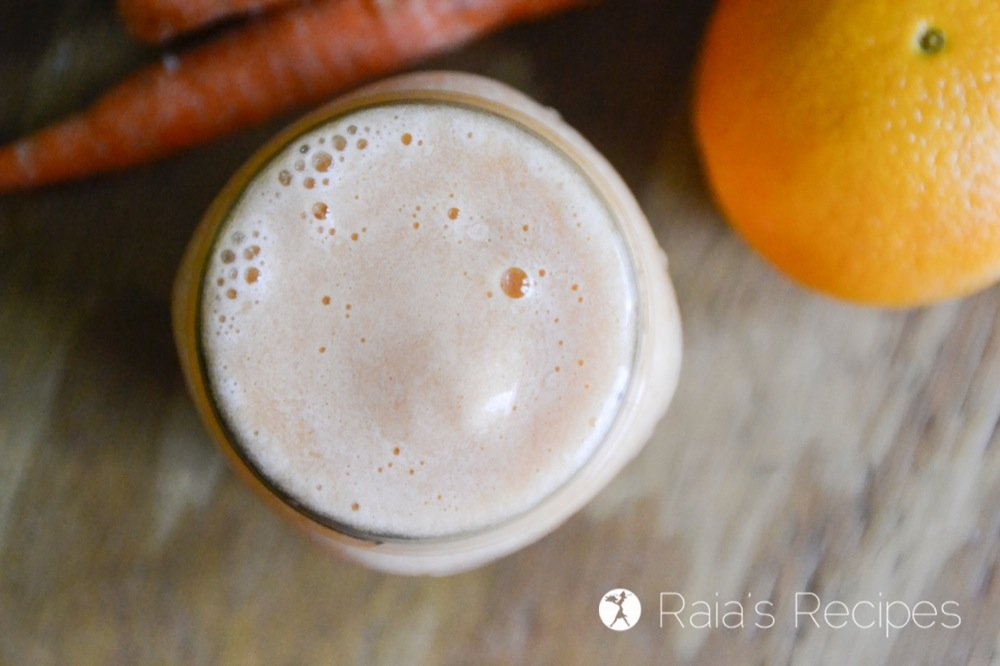 This allergy-friendly, plant-based Carrot Orange Smoothie is a delicious and vitamin-packed way to start your day, or cool off during the summer heat!