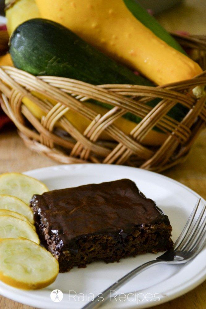 summer squash chocolate sheet cake 2