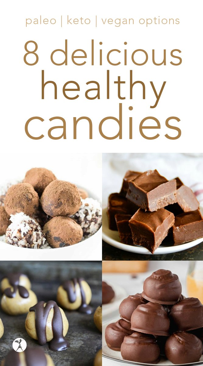 No-bake treats for the win! These healthy options will help you make it through the days you need a nourishing dessert, but don't feel like baking. #nobake #dessert #chocolate #candies #paleo #glutenfree #vegan #keto