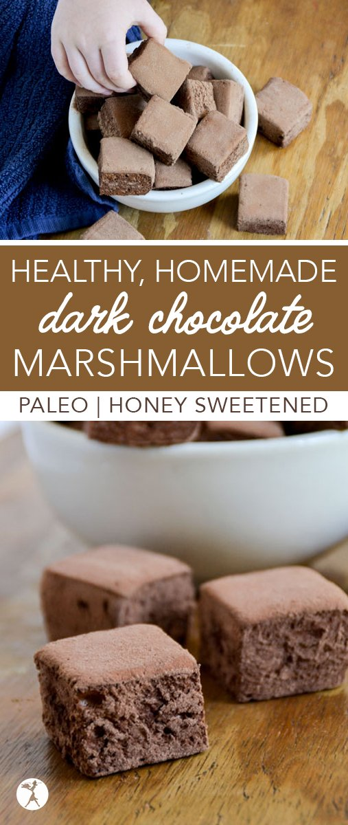 Are you a chocolate fan? Kick your s'mores or homemade hot cocoa up a notch with these paleo Healthy Dark Chocolate Marshmallows!