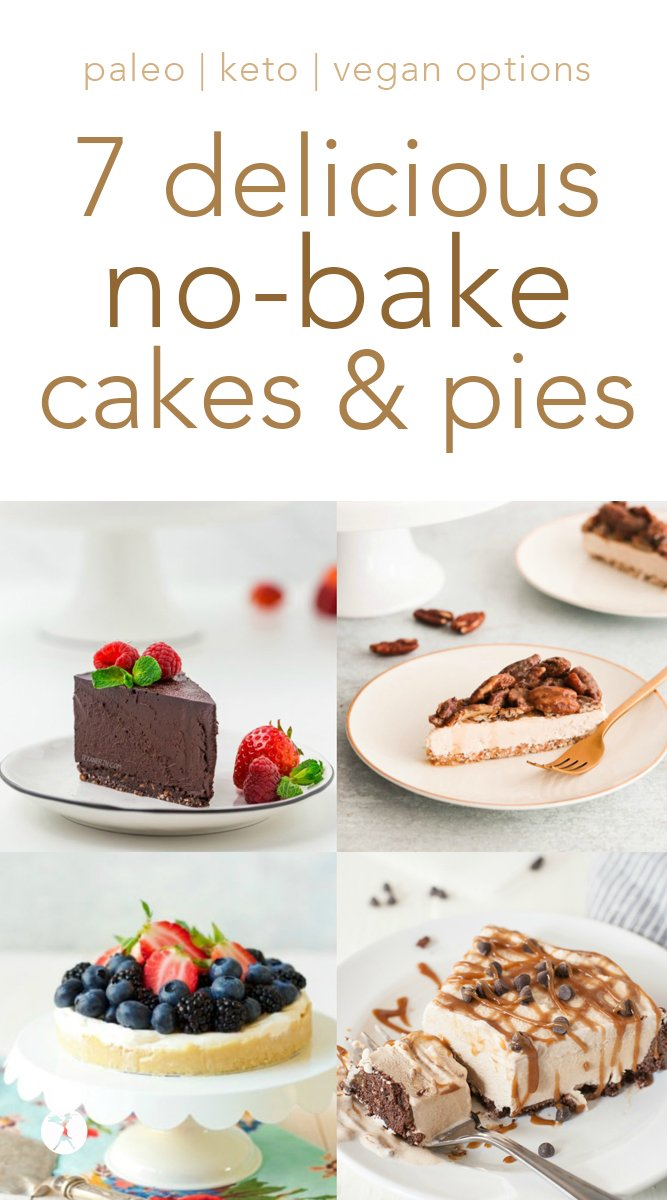 No-bake treats for the win! These healthy options will help you make it through the days you need a nourishing dessert, but don't feel like baking. #nobake #glutenfree #dessert #paleo #vegan #keto