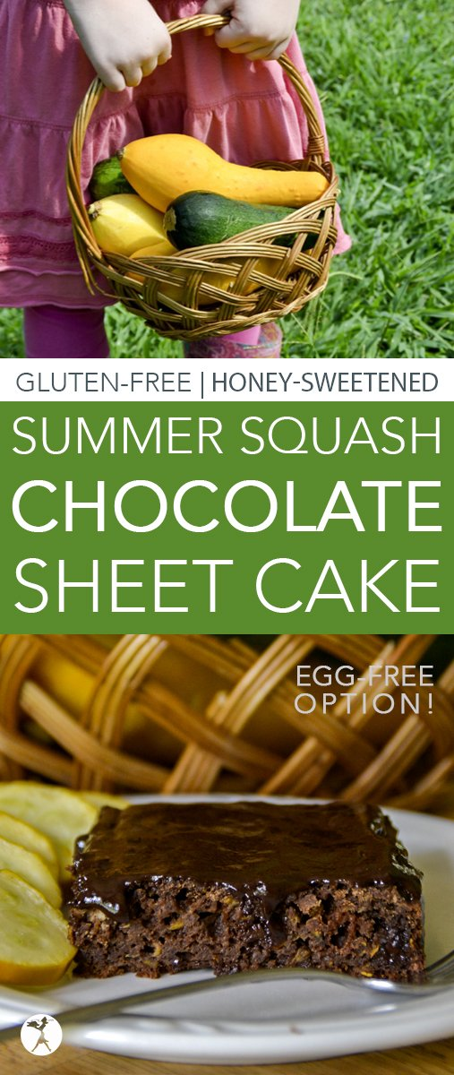 This easy, gluten-free, refined sugar-freeSummer Squash Chocolate Sheet Cake is a great way to use up all that squash your summer garden has been producing!