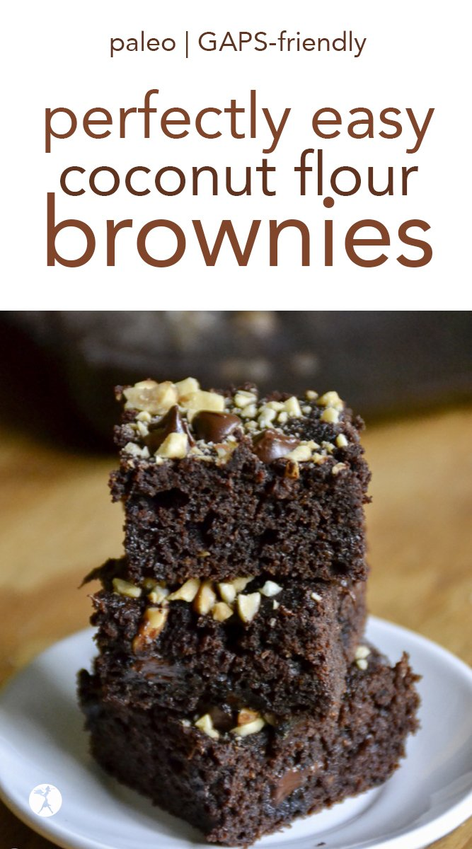 Perfectly Easy Coconut Flour Brownies #coconutflour #chocolate #paleo #gapsdiet #glutenfree #dessert #brownies