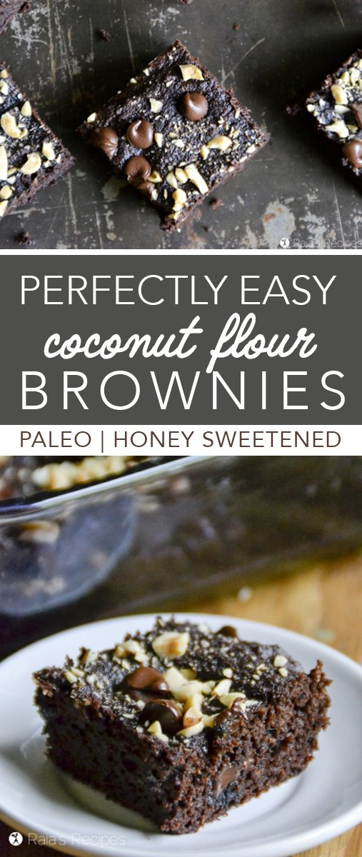 Is there anything so perfect as a soft, slightly fudgy, brownie? I think not. And these Perfectly Easy Coconut Flour Brownies take the cake! Er... brownie.