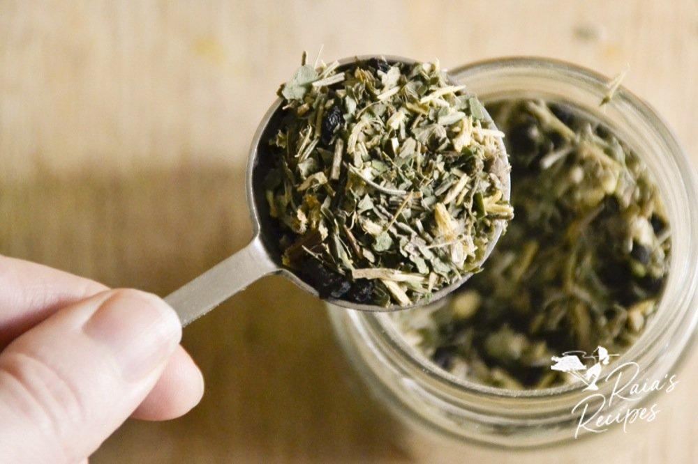 scoop of herbs