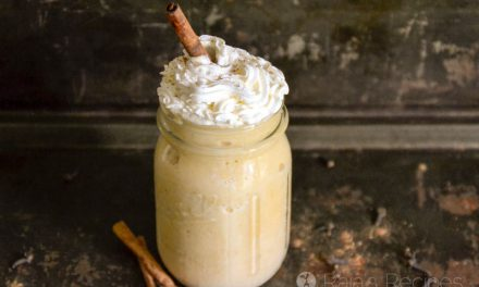 Healthy Pumpkin Eggnog Smoothie