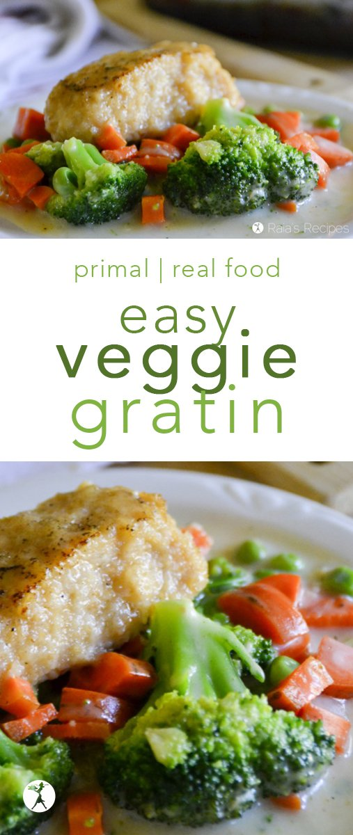 This easy, grain-free Veggie Gratin is the perfect side for any main dish. My family loved it served with Chicken Habanero Croquettes! #vegetables #veggies #augratin #gratin #vegetablesgratin #grainfree #primal #realfood #glutenfree