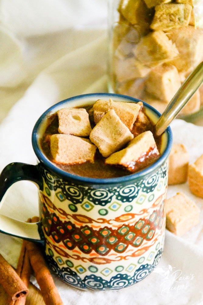 mug full of homemade hot cocoa