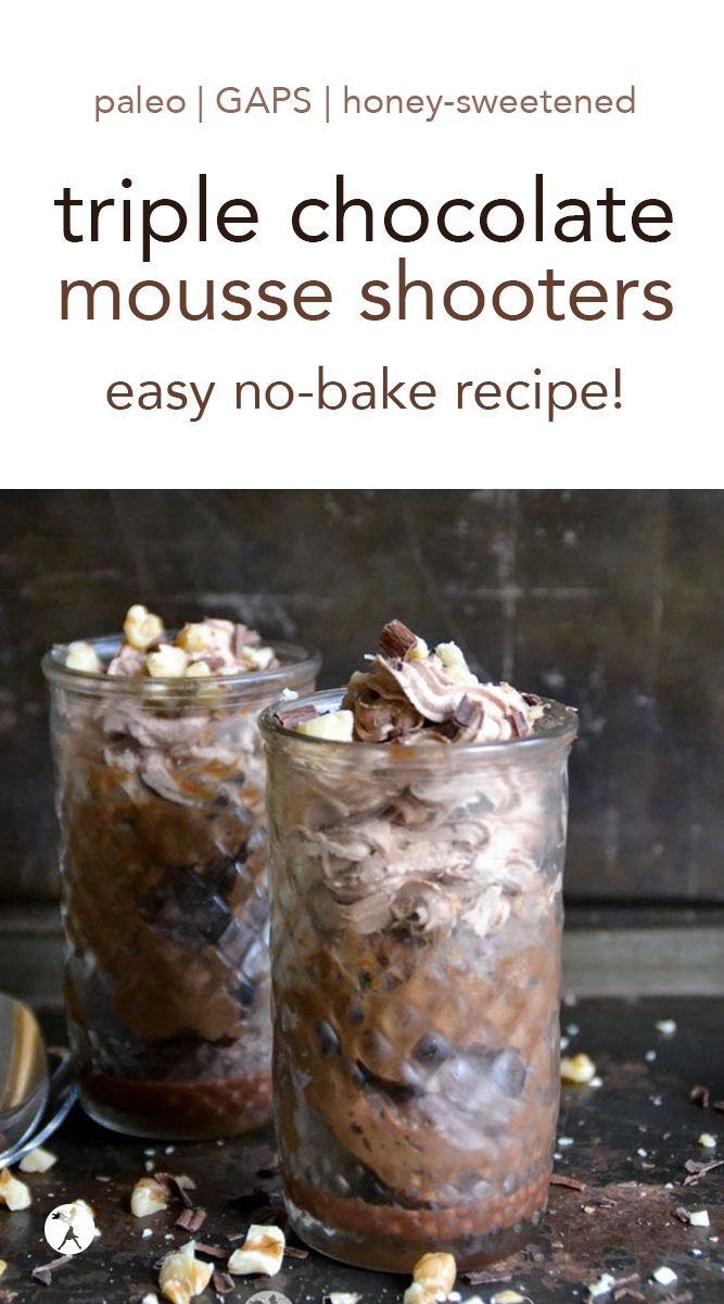 Paleo & GAPS Triple Chocolate Mousse Shooters #chocolate #darkchocolate #mousse #paleo #gapsdiet #realfood #glutenfree #dairyfree #dessert #nobake