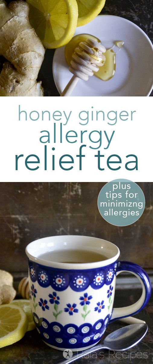 Allergies making you miserable? Find relief and healing with this easy, homemade honey Ginger Allergy Relief Tea and get my 5 tips for minimizing the effects of allergies. #allergies #tea #honey #ginger #paleo #gapsdiet