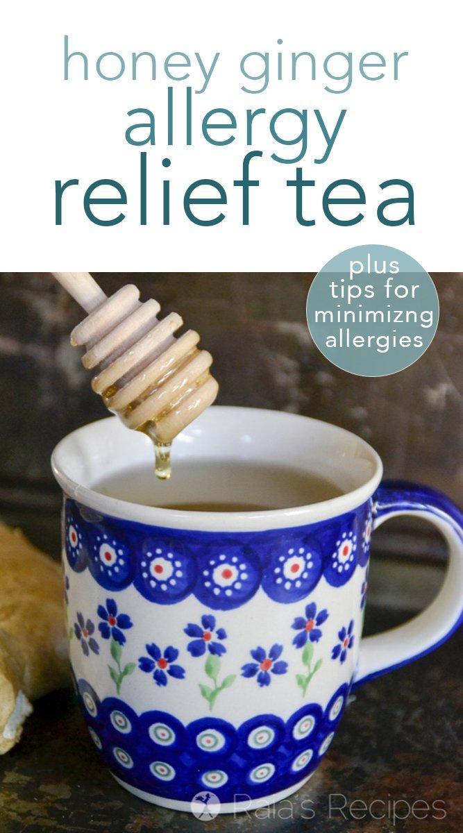Honey Ginger Allergy Relief Tea (+ 5 tips to minimize your allergies) #allergies #tea #honey #ginger #paleo #gapsdiet