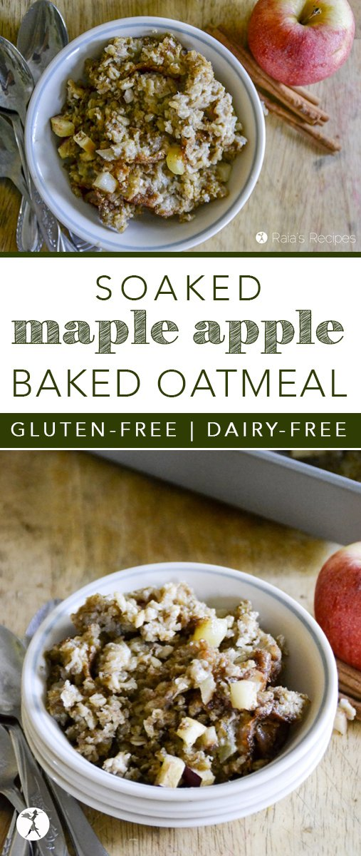 Need an upgrade from regular soaked oats? Try these gluten-free and dairy-free Soaked Maple Apple Baked Oatmeal!