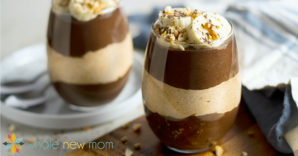 Chocolate Peanut Butter Chia Pudding from Whole New Mom