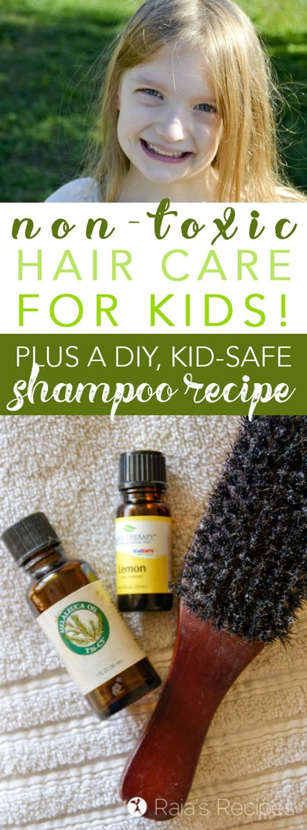 Want to keep your kids scalp and skin safe from unnecessary toxins? Here's what I dofor non-toxic hair care for kids, as well as a kid-safe shampoo recipe that's easy to make yourself!