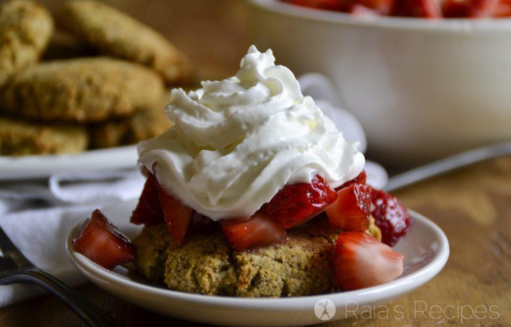 Honey Sweetened, Grain Free Strawberry Shortcake