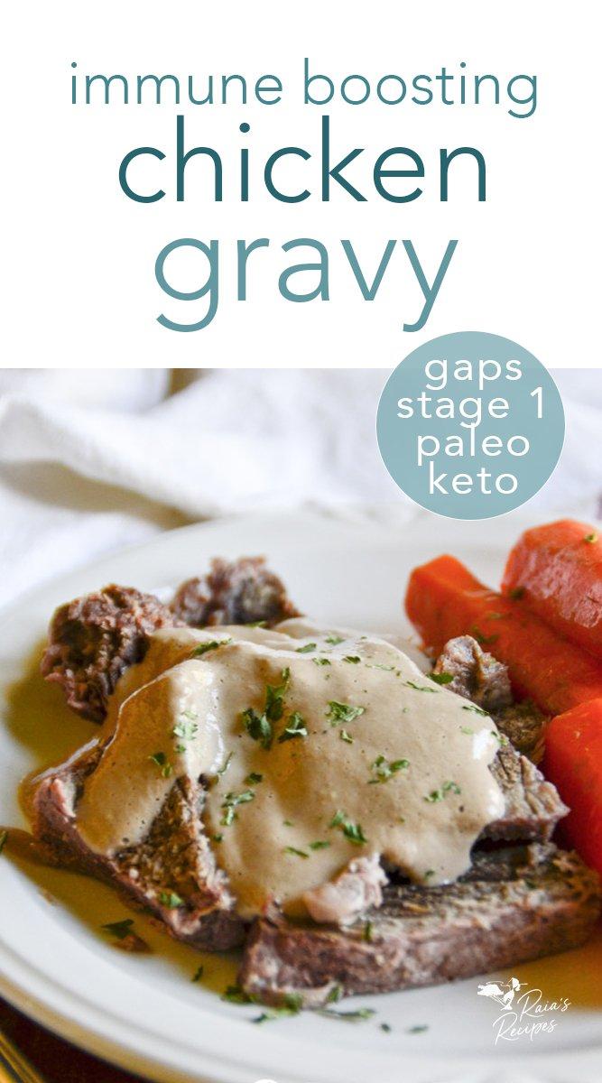 Immune-boosting chicken gravy. #gapsdiet #stage1 #gapsintrodiet #paleo #chicken #gravy #immuneboosting #nourishing