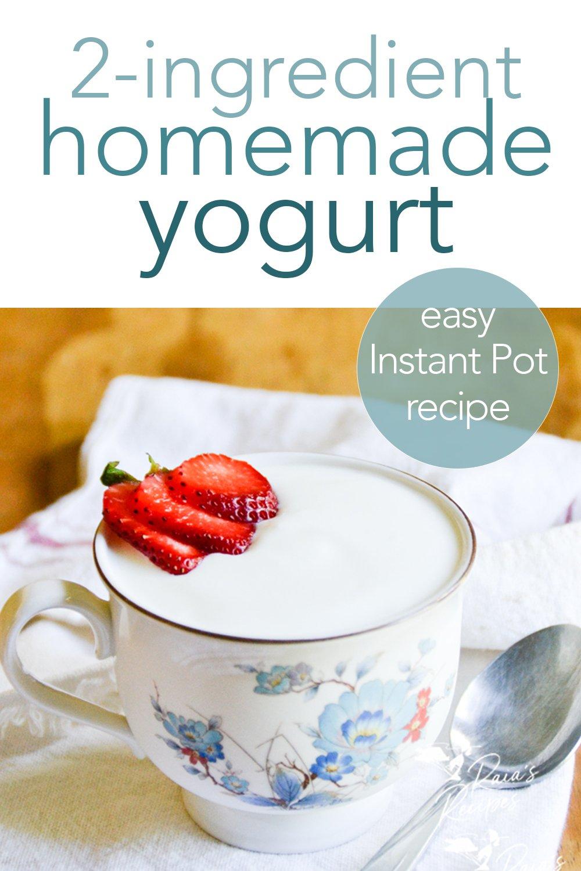 Easy Homemade Yogurt in the Instant Pot #yogurt #glutenfree #primal #gapsdiet #realfood #instantpot #keto #lowcarb