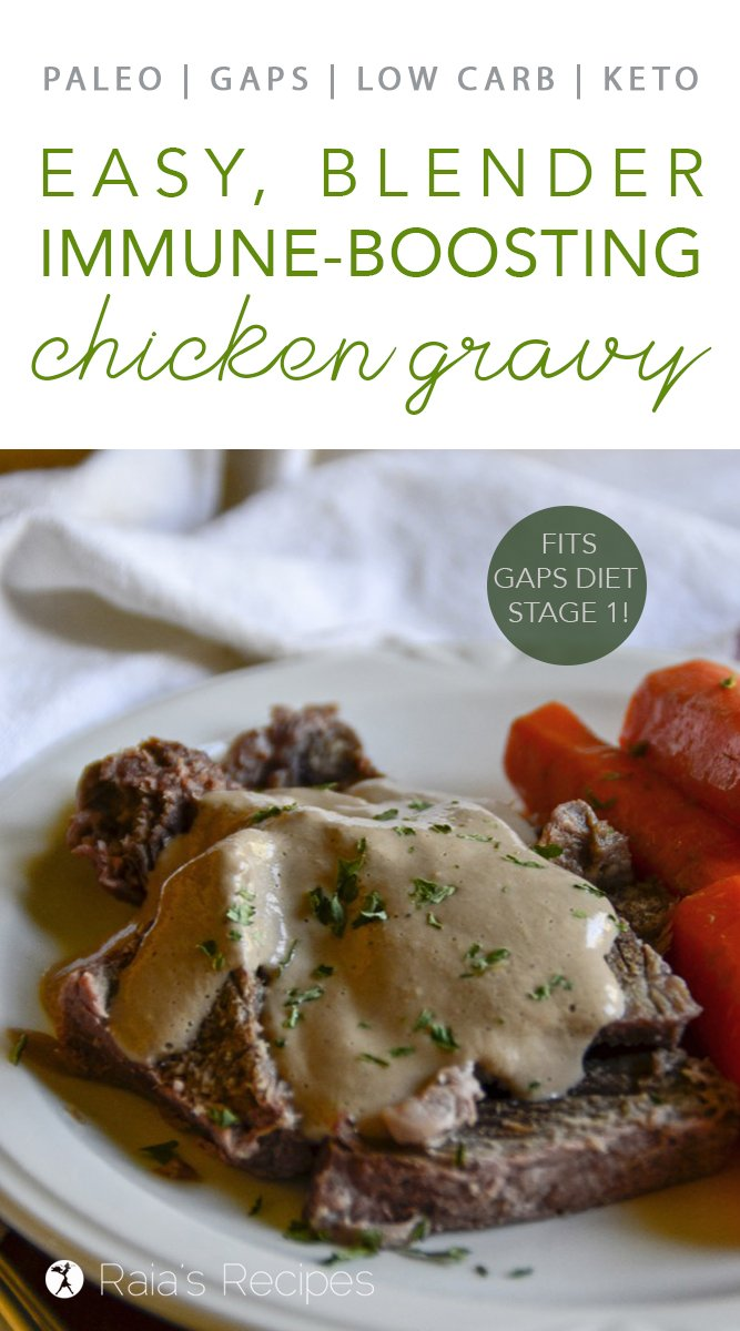 Immune-Boosting Chicken Gravy #gapsdiet #stage1 #whole30 #lowcarb #keto #realfood #paleo #gravy #chicken #blender