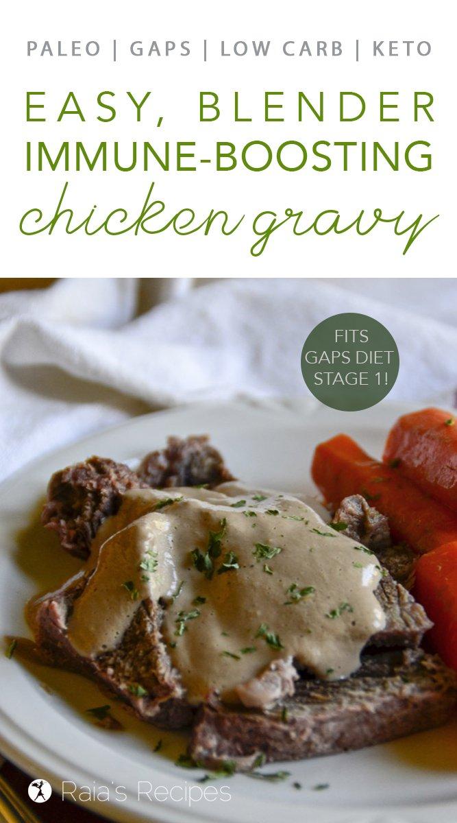 Immune-Boosting Chicken Gravy #gapsdiet #stage1 #whole30 #lowcarb #keto #realfood #paleo #gravy #chicken #blender