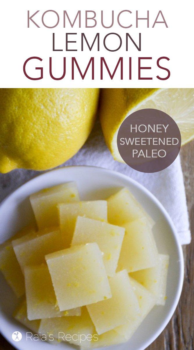 Kombucha Lemon Gummies #paleo #glutenfree #realfood #kombucha #lemon #gummies #fruitsnacks #snack #probiotics