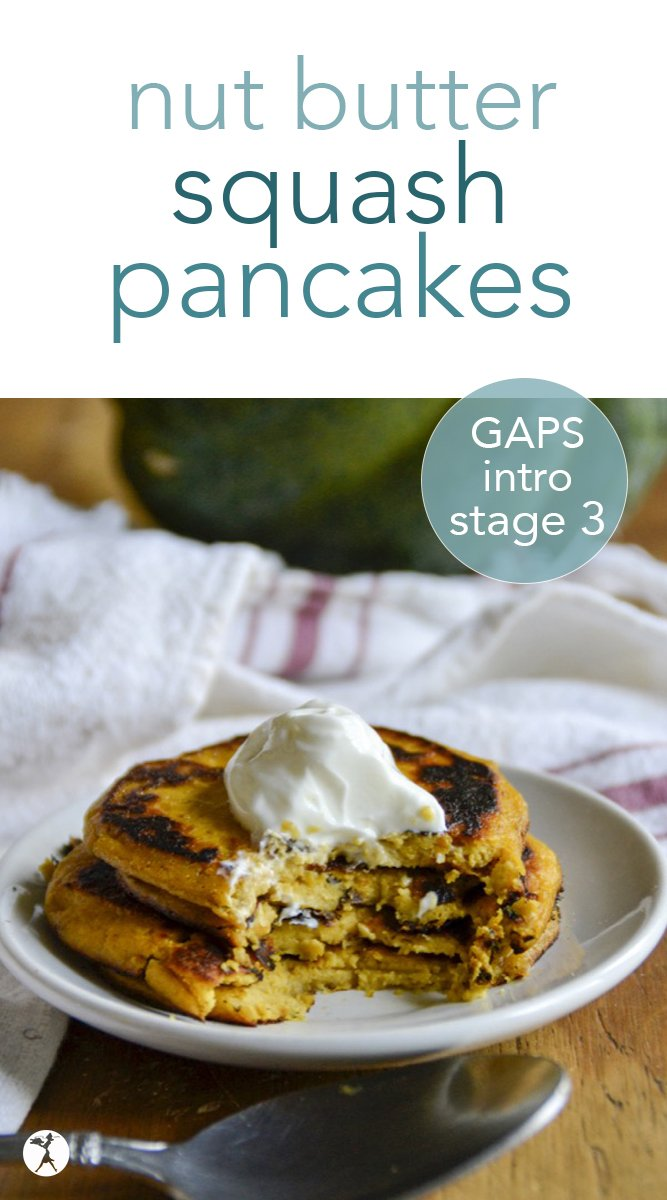 For all you fellow laborers through stage 3 of the GAPS Intro Diet: these easy nut butter squash pancakes are for you. You're welcome. #gapsintrodiet #gapsdiet #introstage3 #pancakes #nutbutter #squash #guthealth