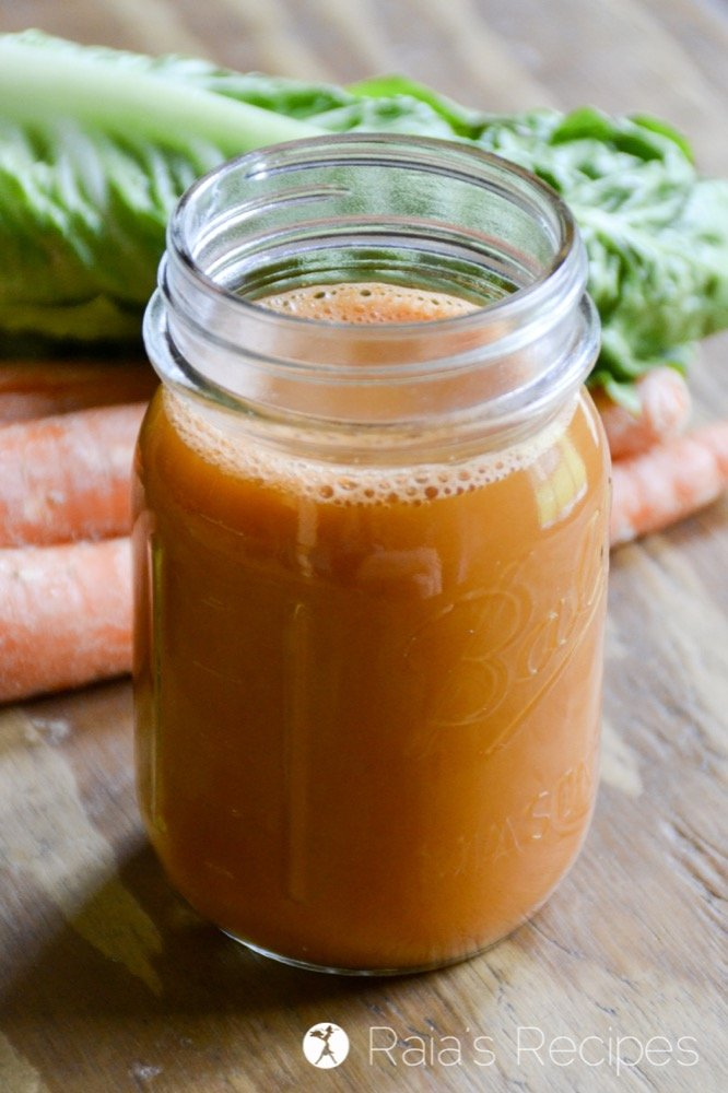 homemade carrot juice