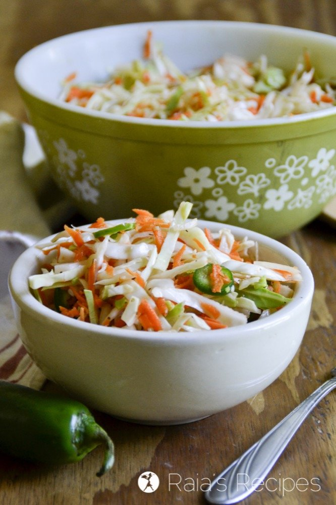 Spicy Curtido Coleslaw from Raia's Recipes