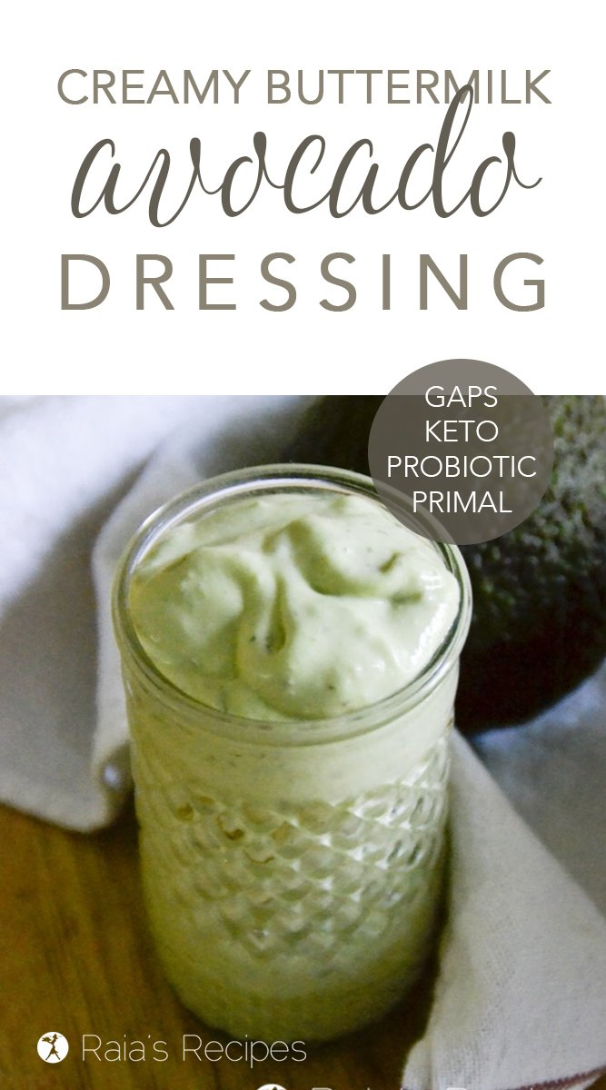 "Creamy ""Buttermilk"" Avocado Dressing #gapsdiet #avocado #dressing #salad #healthy #keto #lowcarb"
