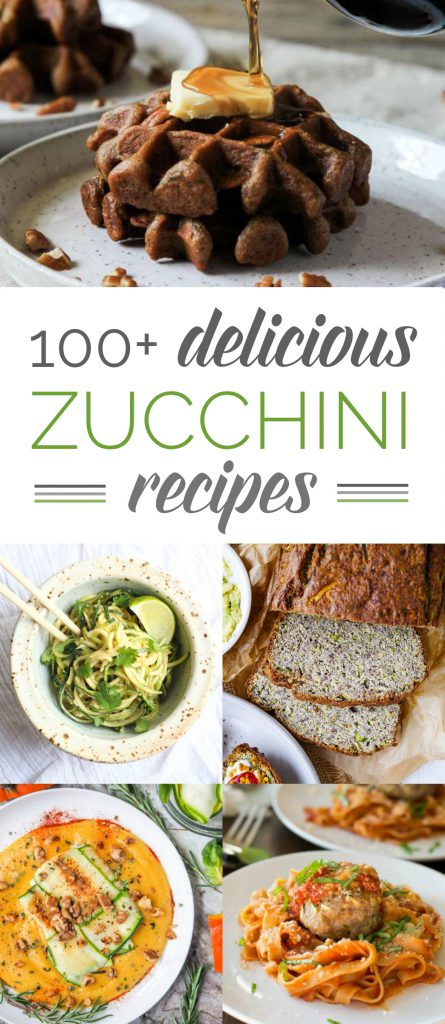 Does it seem like you have zucchini coming out your ears? If you have that wonderful 'problem,' here are 101 delicious zucchini recipes that are all gluten-free. #zucchini #glutenfree #recipes #roundup