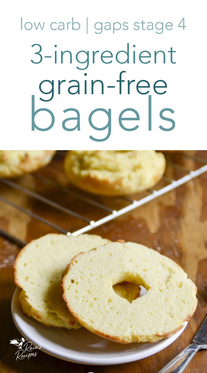 3-Ingredient Grain-Free Bagels #gapsdiet #primal #bagels #lowcarb #keto #realfood