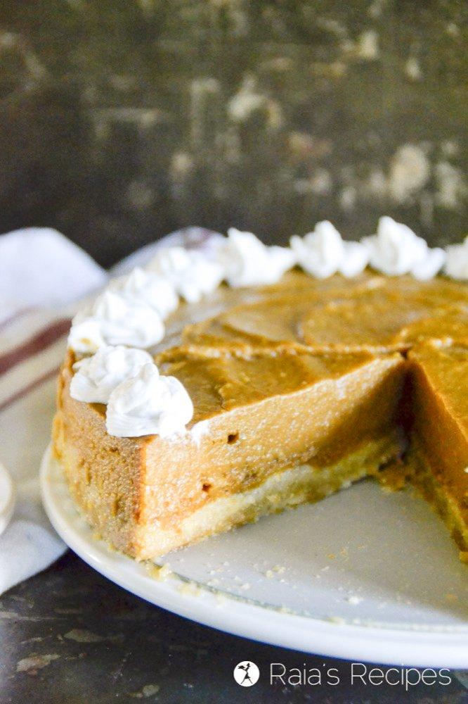 a cut out of honey orange pumpkin pie from raiasrecipes.com