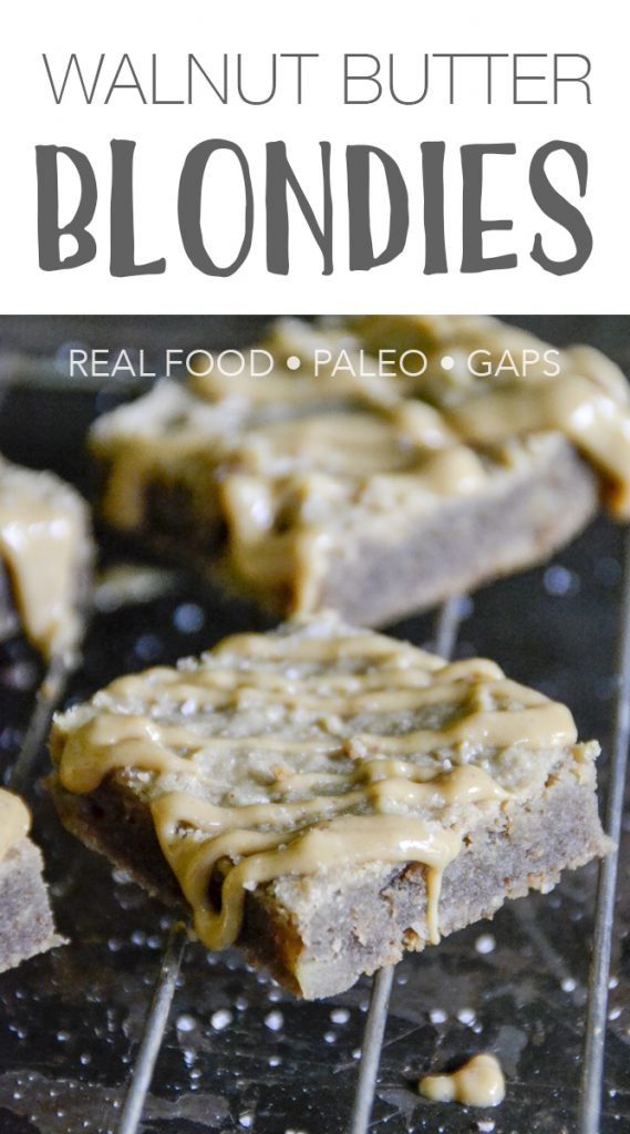 Paleo Salted Walnut Butter Blondies